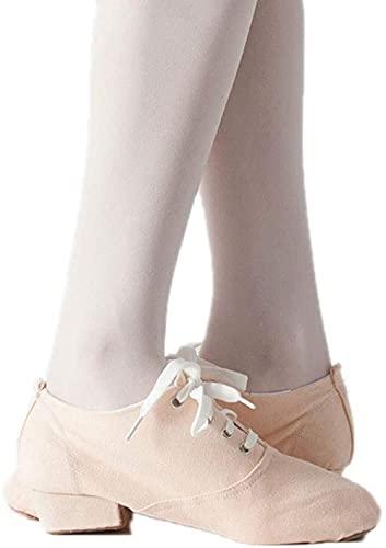 CCHAYE con Root Lienzo Zapatos Ballet Zapatos de Baile Profesor Gimnasia Jazz Suave Inferior niño Profesor Danza ms Zapatos-Carne_40 i Improve