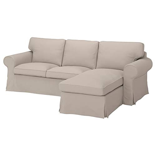 IKEA UPPLAND Cover for Sofa with Chaise Lounge Light Beige Slipcover Slip Cover