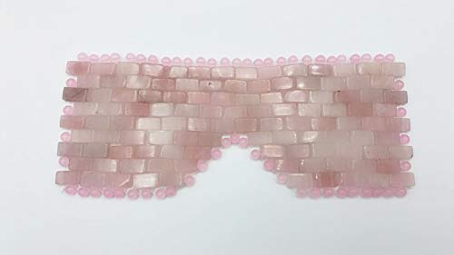 Rose Quartz Eye Mask for self-care, anti-aging, depuffing, wrinkles, eliminating bags under eyes & dark circles, therapy mask for face, natural jade mask - Perfect for Holiday Beauty Gifts