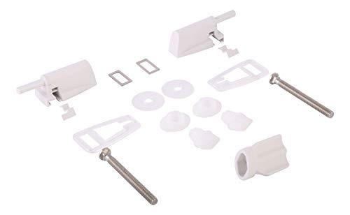 SITZPLATZ® WC-Sitz Befestigung | Set | Scharniere | Kunststoff | Nr. 45 | Mit Absenkautomatik