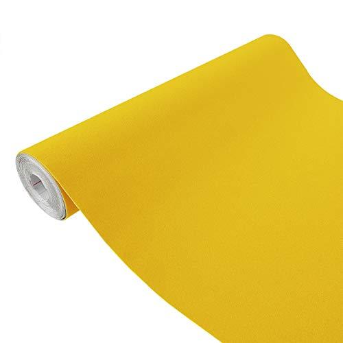 DecoMeister Klebefolien in Velour-Optik Velourfolie Deko-Folien Velourdekor Selbstklebefolie Möbelfolie Selbstklebend 45x100 cm Velours gelb - Gelb