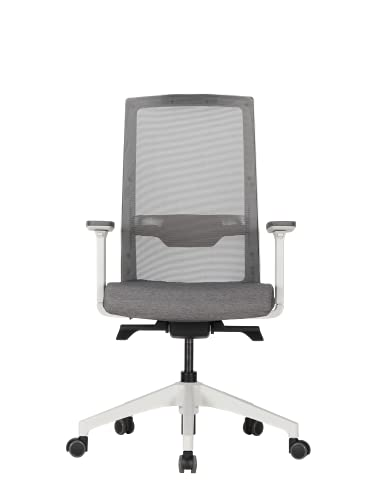 Duorest Q7 Ergonomic Mesh Office Chair and 65mm Soft Dual-Wheel Casters, GREENGUARD Gold Certified - Ultimate Comfort Mesh Chair, Adjustable Lumbar Height & Seat Depth, 3D Arm