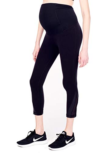 Product Image of the Ingrid & Isabel Active Capri Mesh Detail | Maternity Leggings | Grows with You