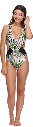 Shiner Sports UK Samoa Talia Maillot de Bain Une pièce pour Femme XL Noir (Multicolore).