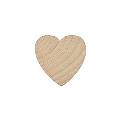 """1-1/2"""" Wood Hearts, Natural Unfinished Wood Heart Cutout Shape, (1.5 Inch), Wooden Heart (1-1/2 Inch Tall x 1/8 Inch Thick)"""
