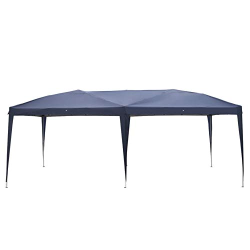 MITPATY 10 x 20' Home Use Outdoor Camping Waterproof Folding Tent with Carry Bag Blue - Party Tent Portable Carport Shelter Canopy for Outdoor Wedding Garden Party