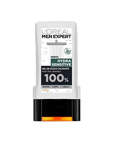 L'Oreal Paris Men Expert Gel de Ducha Calmante Hydra Sensitive para Hombre  Lot de 6
