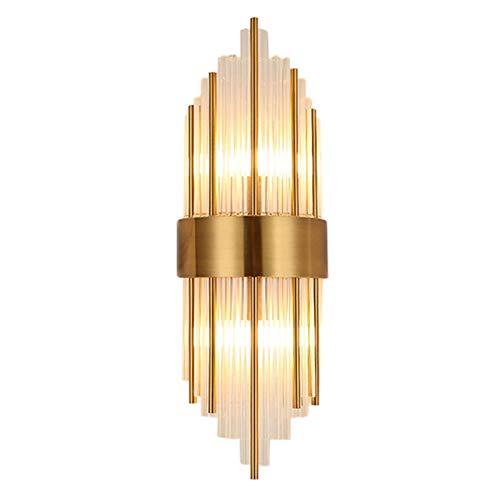 KFRSQ Lámpara de pared retro ajustable de latón lámpara de pared de cristal lámpara de pared salón pared simple Nordic dormitorio lámpara de noche escalera luz de marcha