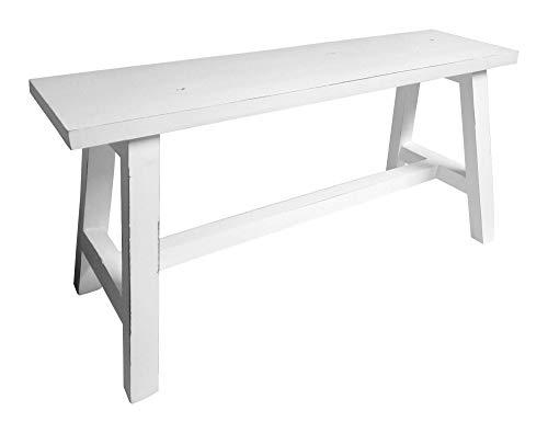 1a-Handelsagentur - Banco de madera (aspecto envejecido, 90 x 35 cm), color blanco