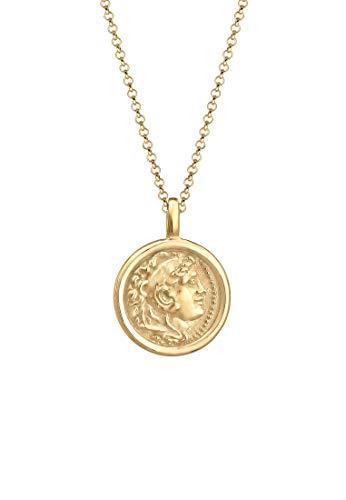 Elli Halskette Münz-Anhänger 925 Sterling Silber
