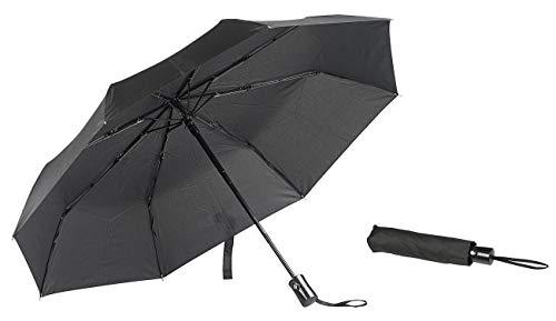PEARL Regenschirm Automatik: Automatik-Taschenschirm, Stahl-Fiberglas-Gestell, bis 40 km/h, Ø 100cm (Regenschirm windfest)