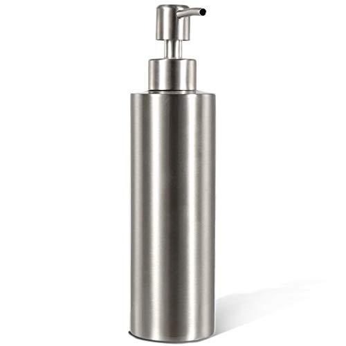 BabyElf ステンレス ソープ ディスペンサ キッチ 洗面台 バスルーム カウンタートップ 、シャンプー、キッチンソース、ローションに最適( 350 ML)