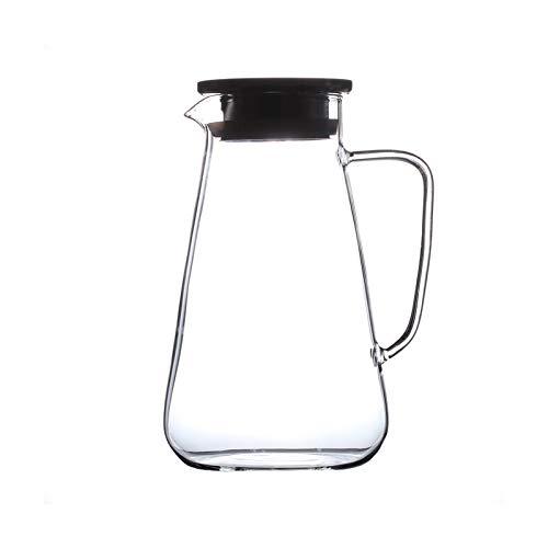 YIFEI2013-SHOP Jarra de Agua Jarra de Vidrio de Gran Capacidad con asa antipseldora Borosilicato de Vidrio de Vidrio Hervidor de Agua para Jugo Café de Vino Caliente/Agua fría Jarras