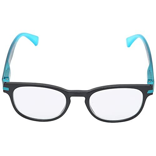 Gafas de lectura, profesionales simples unisex de moda, anteojos presbiópicos para ancianos, anteojos de moda para ancianos, anteojos presbiópicos portátiles para leer(50-54 +150)