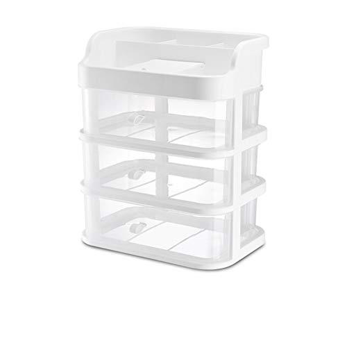 Boîte de rangement en plastique pour tiroir de bureau en plastique avec miroir transparent accessoires de cheveux pour le bureau masque stockage de bijoux