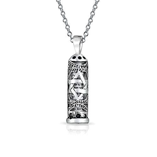 Hanukkah Davidstern Magen Jüdisches Pergament MesUSA Anhänger Kabbala Halskette Für Männer Frauen 925 Sterling Silber