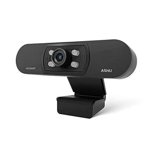 1080P Webcam with Microphone, Full HD Computer Webcam USB Desktop Camera for Pc Laptop Compatible with Windows, Android for Video Conferencing, Online Classes, Gaming, Video Chat