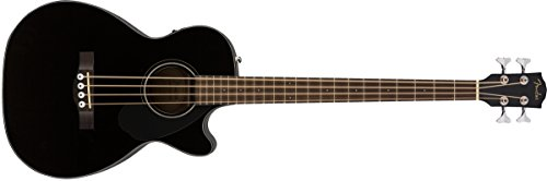 Fender CB-60SCE Acoustic Bass Guitar - Black