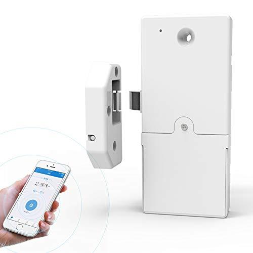 Teepao Smart-Türschloss, Smart-Türschloss – App ohne Bohren – Universelles Schlüsselloses Schrankschloss für schlüssellosen Zugang und Live Überwachung (batteriebetrieben)