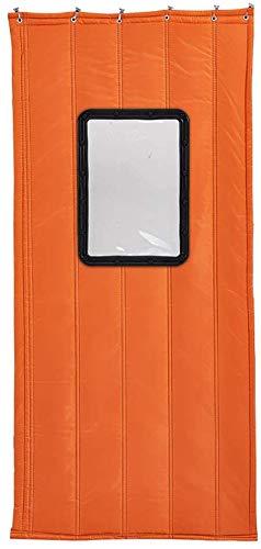 SLM-max Household Parabrezza partizione Tenda, Ispessito Anti-Freddo Gas Commerciale Caldo Tenda di Cotone, Impermeabile Spessa in Tessuto Oxford-Arancio,150×200cm