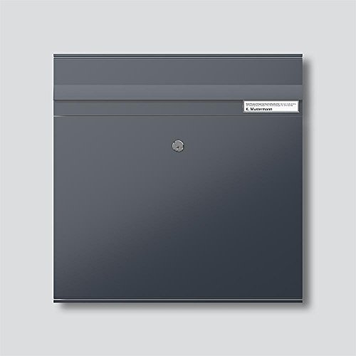 Siedle&Söhne Briefkasten-Modul BKM 611-4/4-0 AG anthrazitgrau Vario Montageelement für Türstation 4056138001460