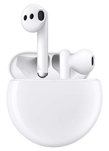 HUAWEI FreeBuds 3 kabellose Kopfhörer mit Active Noise Canceling (ultra schnelle Bluetooth-Verbindung, 14mm Lautsprecher, kabelloses Aufladen) + 5EUR Amazon Gutschein, Weiß