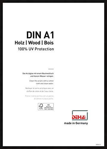 DEHA Holz Bilderrahmen Fontana, 59,4x84,1 cm (A1), Schwarz