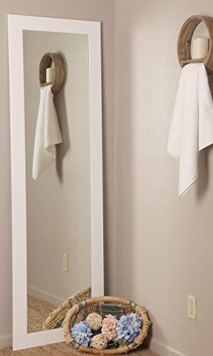 BrandtWorks BM3THIN Matte White Full Length Mirror, 21.5 x 71