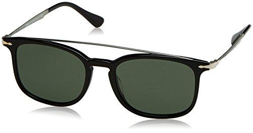Persol 0Po3173S 95/31 54 Occhiali da Sole, Nero (Black/Green), Uomo