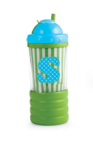 Mud Pie Initial Baby Boy Blue Initial Sip N' Munch, Letter S
