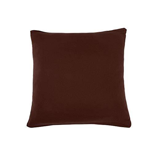 YeVhear - Funda de cojín (poliéster elástico, con cremallera), color chocolate