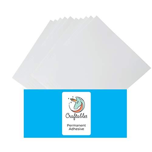 Craftables Transparent Vinyl Sheets - Permanent, Adhesive, Glossy & Waterproof   (10) 12