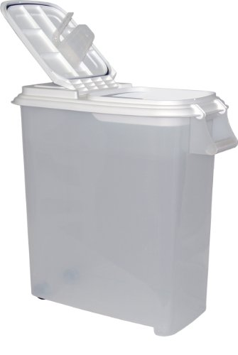 Price comparison product image Buddeez 12-1 / 2-Gallon Roll-Away Pet Food Dispenser with Scoop-Holds up up to 44lbs