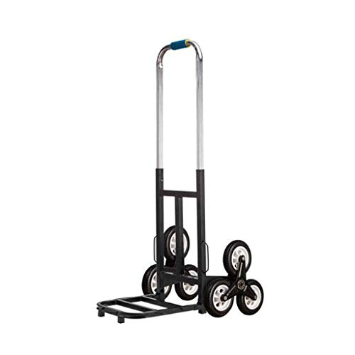 GUONING-L Shopping Shopping Cart XM Stair Climbing Cart Portable Climbing Cart 90Kg Capacity All Terrain Stair Climbing Trolley Folding Stair Trolley Heavy Duty With 6 Wheels Trolley