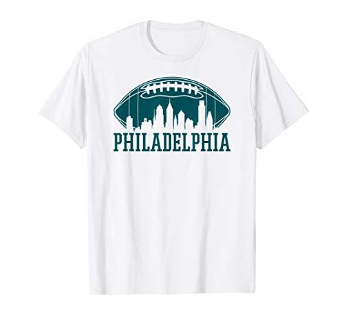 Philadelphia Football Vintage Philly Skyline Gift T-Shirt