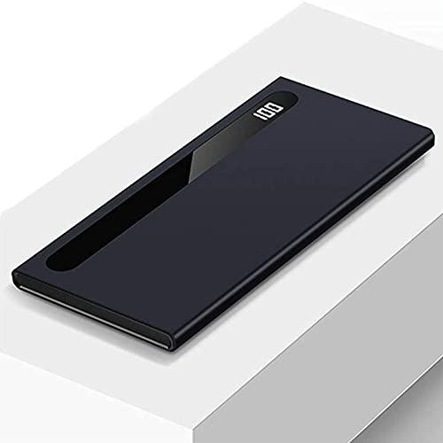 DNGDD Cargador portátil 2.1A Carga rápida Pantalla LED 100000mAh Banco de energía Paquete de baterías de Doble Salida, Azul