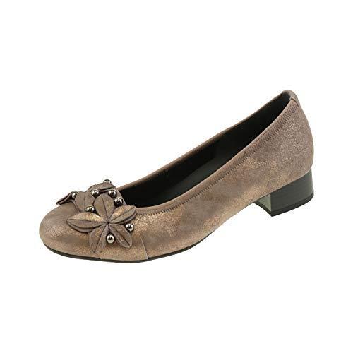 Gabor damskie buty baleriny na obcasie Dark Rose 9621391, różowy - Dark Rose - 37.5 EU