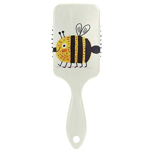 Air cushion Hair Brush, Plastic Colorful Cute Bee, Massage and Anti Static Detangling Hair Brush