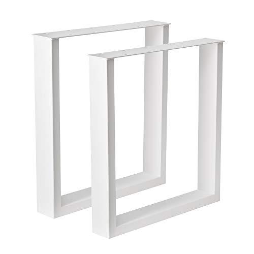 Holzwerk Design Tischgestell Stahl weiß gepulvert TUG 304 Tischuntergestell Tischbein Paar Tischkufe 63,5 cm x 70 cm Neu und OVP