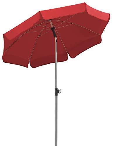 Schneider Sonnenschirm Locarno, rot, 150 cm rund, Gestell Stahl, Bespannung Polyester, 2 kg