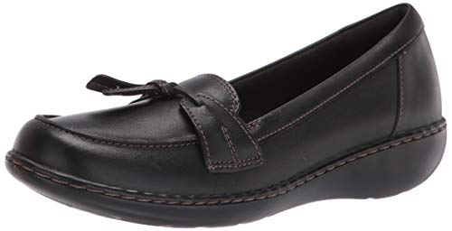 Clarks Women's Ashland Bubble Slip-On Loafer, Black, 8.5 M US