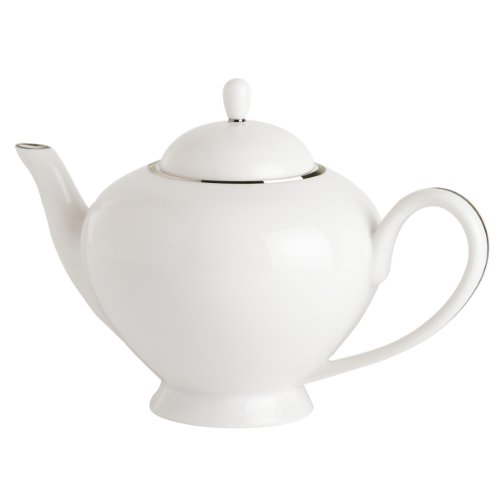 Guy Degrenne Galon Platine - Tetera cafetera (Porcelana), diseño con Ribete platinado