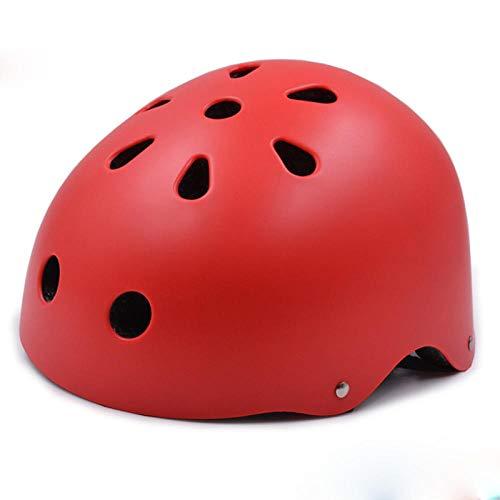 CascoHelmetLoop Casco de bicicleta MTB redondo Niños / Adultos Hombres Mujeres Accesorio deportivo Casco de ciclismo Tamaño de cabeza ajustable Casco de bicicleta de carretera de montaña-rojo_S