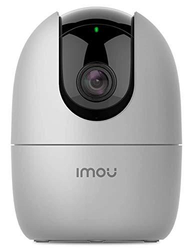 Imou 1080P Telecamera Wi-Fi Interno, Telecamera IP di Sorveglianza, Baby Monitor con Rilevamento di Movimento Umano, Tracciamento del Movimento, Visione Notturna, Audio Bidirezionale, Ranger 2 Grigio