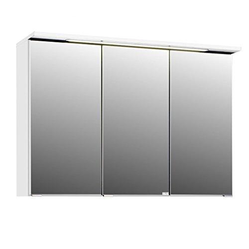 3D Spiegelschrank in 5 verschiedenen Breiten Bolina Weiss inkl. intergrierter Beleuchtung-Steckdose (breite 100cm)
