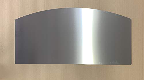 Kamin Edelstahl Funkenschutz Kaminplatte Ofen Bodenplatte 1,5 mm (480 mm x 980 mm)