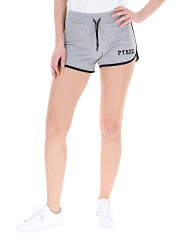 Pyrex 19EPB40011 Short Donna in Felpa Stampato Grigio Melange (S)