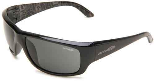 Arnette Herren Sonnenbrille Cheat Sheet, Schwarz (Black/Gray), 63