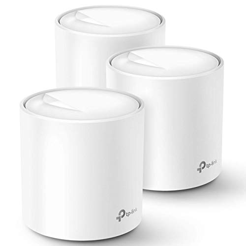 TP-Link Deco WiFi 6 Mesh System(Deco X20) - Covers up to 5800 Sq.Ft. , Replaces Wireless Routers and Extenders(3-Pack, 6 Ethernet Ports in total, supports Wired Ethernet Backhaul)