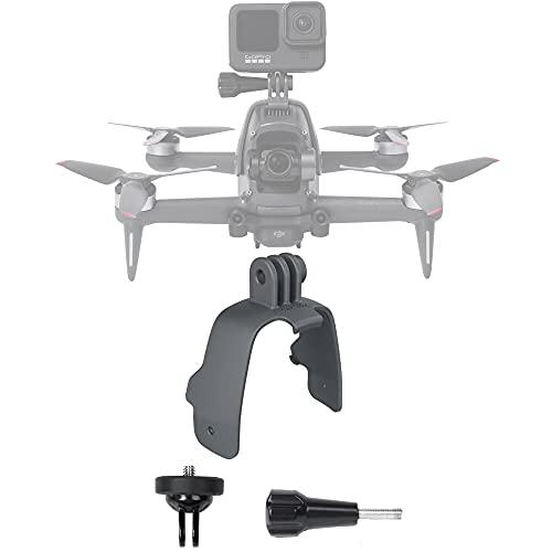 Honbobo Accessorio per DJI FPV Drone, FPV Estensione Staffa Montare Adattatore Supporto Fisso Compatibile con Insta360 One R/Pocket 2/Gopro 9/10 Action Camera